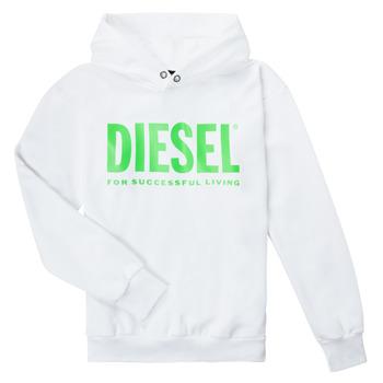 Vêtements Enfant Sweats Diesel SDIVISION LOGOX OVER Blanc