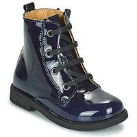Chaussures Fille Boots Citrouille et Compagnie HEMANU Bleu