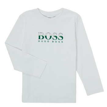 Vêtements Garçon T-shirts manches longues BOSS SOPELAS Blanc