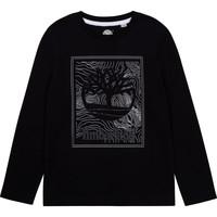 Vêtements Garçon T-shirts manches longues Timberland AIFRET Noir