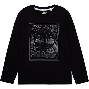 Vêtements Garçon T-shirts manches longues Timberland BAGIRI Noir