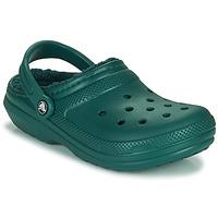 Chaussures Sabots Crocs CLASSIC LINED CLOG Vert