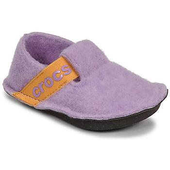 Chaussures Fille Chaussons Crocs CLASSIC SLIPPER K Violet / Jaune