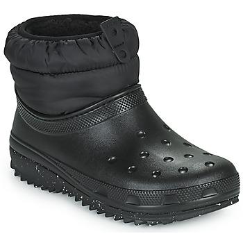 Chaussures Femme Bottes de neige Crocs CLASSIC NEO PUFF SHORTY BOOT W Noir