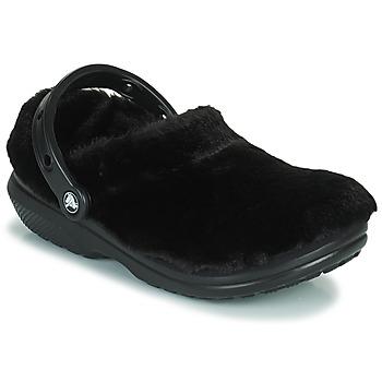 Chaussures Femme Sabots Crocs CLASSIC FUR SURE Noir