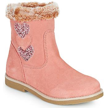 Chaussures Fille Bottes ville Citrouille et Compagnie PARAVA Rose