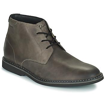 Chaussures Homme Boots Clarks ATTICUSLT MID Gris