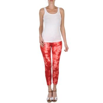 Pantalons 7/8 et 3/4 Eleven Paris DAISY Rouge/Blanc