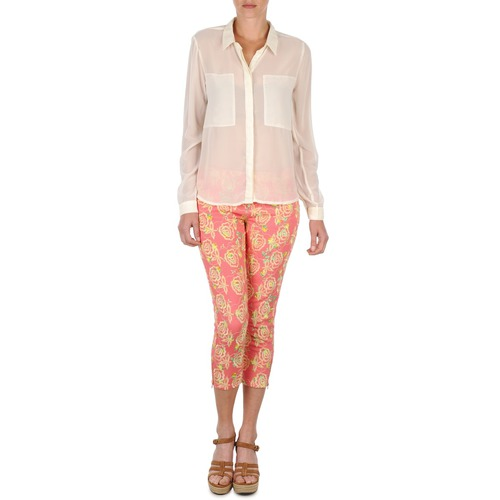 Vêtements Femme Pantacourts Manoush PANTALON GIPSY JEANS Rose
