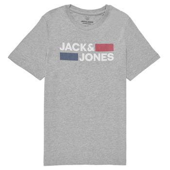 Vêtements Garçon T-shirts manches courtes Jack & Jones JJECORP LOGO TEE SS Gris
