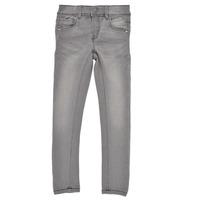 Vêtements Fille Jeans slim Name it NKFPOLLY DNMTASIS Gris