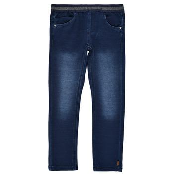 Vêtements Fille Leggings Name it NMFSALLI DNMTORINA Bleu brut