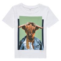 Vêtements Garçon T-shirts manches courtes Name it NMMKYLAN SS TOP Blanc
