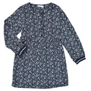 Vêtements Fille Robes courtes Name it NKFKARINFRA LS DRESS Marine