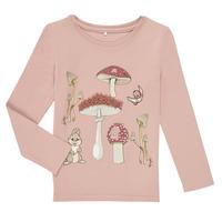 Vêtements Fille T-shirts manches longues Name it NMFTHUMPER ALFRIDA LS TOP Violet