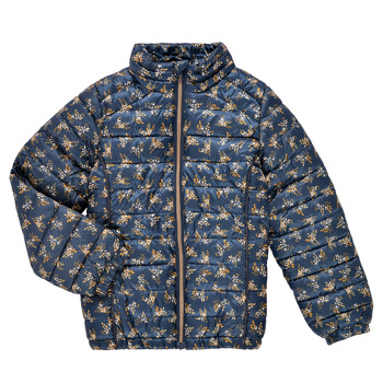 Vêtements Fille Doudounes Name it NKFMENE FLOWER JACKET Marine