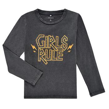 Vêtements Fille T-shirts manches longues Name it NKFNEBEL LS TOP Noir