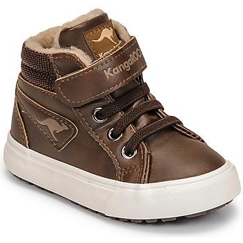 Chaussures Garçon Baskets montantes Kangaroos KAVU III Marron