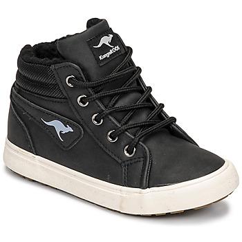 Chaussures Garçon Baskets montantes Kangaroos KAVU I Noir