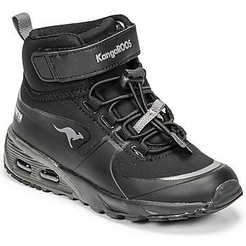 Chaussures Garçon Baskets montantes Kangaroos KX-HYDRO Noir
