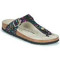 Chaussures Fille Tongs Birkenstock GIZEH Noir / Multicolore