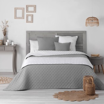 Maison & Déco Couvertures Douceur d intérieur MELLOW CHIC Gris/Blanc