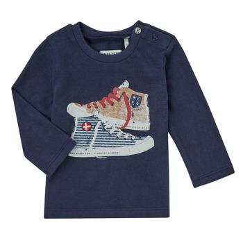 Vêtements Garçon T-shirts manches longues Ikks AURORE Marine
