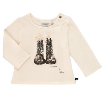 Vêtements Fille T-shirts manches longues Ikks PAON Blanc