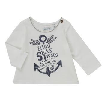 Vêtements Fille T-shirts manches longues Ikks CHOCOLAT Blanc