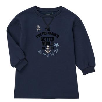 Vêtements Fille Sweats Ikks MANDARINE Marine