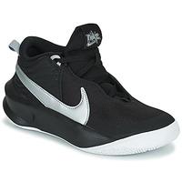 Chaussures Enfant Baskets montantes Nike TEAM HUSTLE D 10 (GS) Noir / Argent