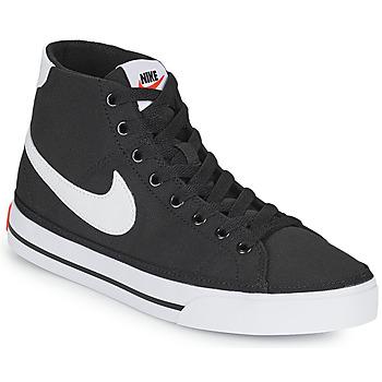 Chaussures Femme Baskets basses Nike W NIKE COURT LEGACY CNVS MID Noir / Blanc