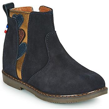 Chaussures Fille Boots GBB JEANNETTE Bleu