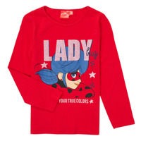 Vêtements Fille T-shirts manches longues TEAM HEROES  TEE LADYBUG Rouge