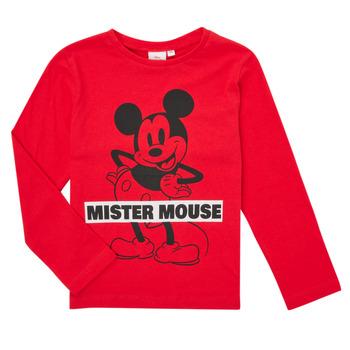Vêtements Garçon T-shirts manches longues TEAM HEROES  TEE MICKEY Rouge