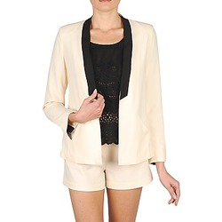 Vêtements Femme Vestes / Blazers Stella Forest YVE005 Ecru