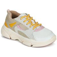 Chaussures Fille Baskets basses Geox J LUNARE GIRL Beige