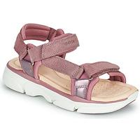 Chaussures Fille Sandales et Nu-pieds Geox J SANDAL LUNARE GIRL Rose
