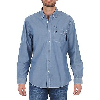 Vêtements Homme Chemises manches longues Lee Cooper Greyven Bleu