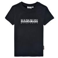 Vêtements Garçon T-shirts manches courtes Napapijri S-BOX SS Noir