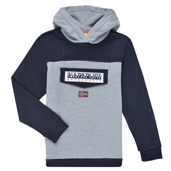 Vêtements Garçon Sweats Napapijri BURGEE Gris / Noir