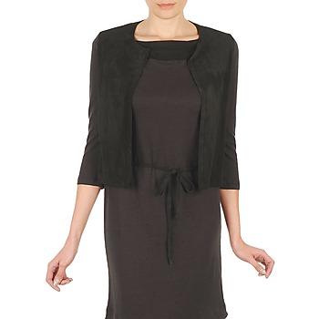 Vêtements Femme Gilets / Cardigans Majestic BERENICE Noir