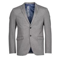 Vêtements Homme Vestes / Blazers Selected SLHSLIM JIM Gris