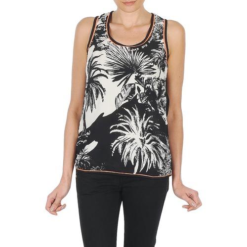 Vêtements Femme Débardeurs / T-shirts sans manche Derhy EDEN Noir/Blanc