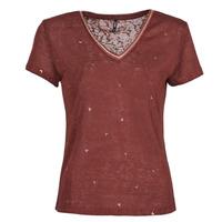 Vêtements Femme T-shirts manches courtes Only ONLSTEPHANIA Bordeaux