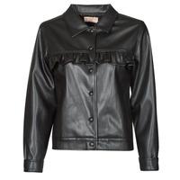 Vêtements Femme Vestes en cuir / synthétiques Moony Mood PABLIS Noir