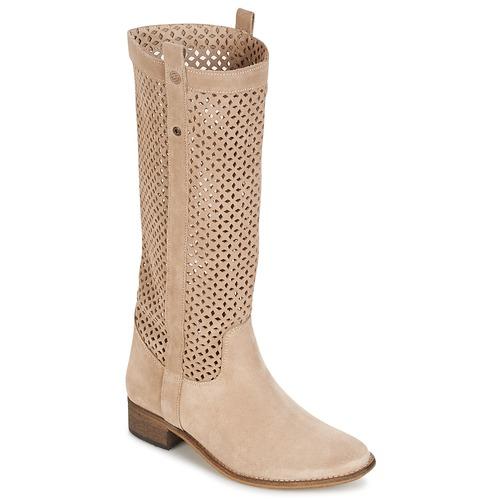 Chaussures Femme Bottes ville Betty London DIVOUI Beige