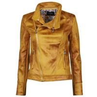Vêtements Femme Vestes en cuir / synthétiques Desigual MARBLE Jaune