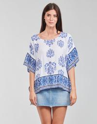 Vêtements Femme Tops / Blouses Desigual ANDES Blanc / Bleu