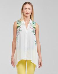 Vêtements Femme Tops / Blouses Desigual FILADELFIA Blanc / Vert